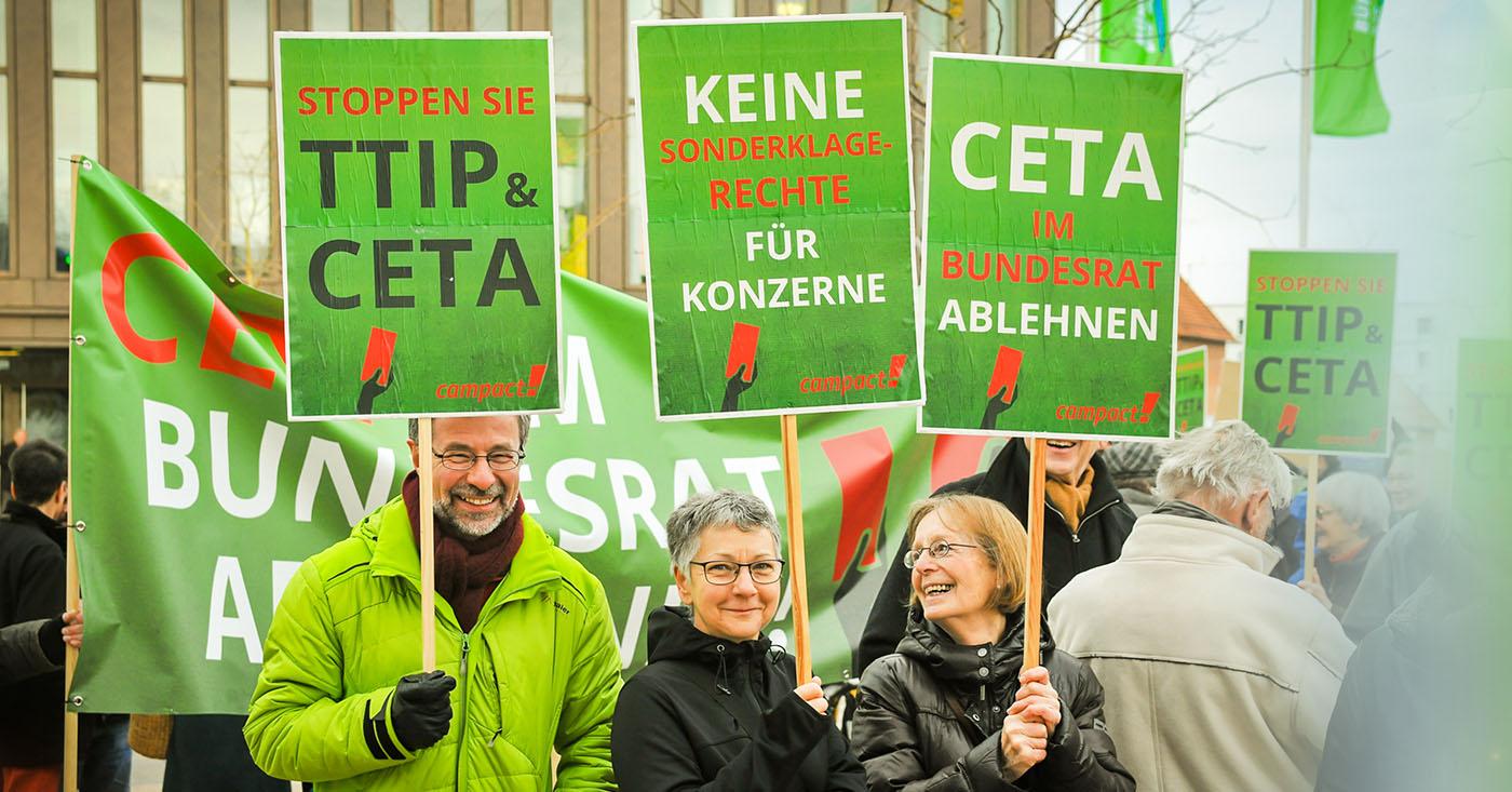 Grüne müssen CETA stoppen - jetzt Campact-Petition unterzeichnen, Foto: Ferdinando Iannone© / Campact