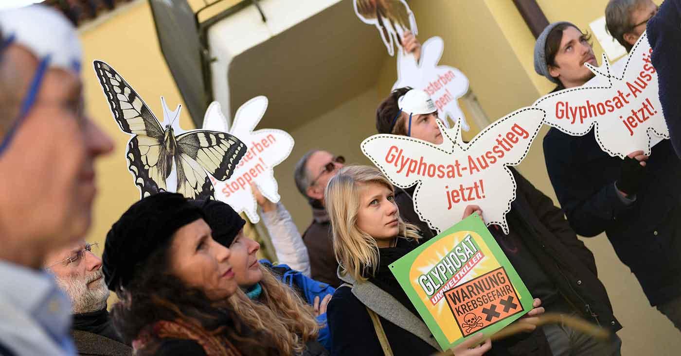 Glyphosat-Protest bei der CSU Landshut-Stadt am 22.11.2017