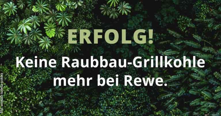 Erfolg! Keine Raubbau-Grillkohle mehr bei Rewe