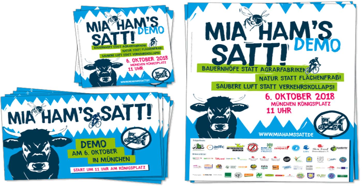 Bild zum Materialpaket der Mia ham's satt-Demo. Quelle: miahamssatt.de