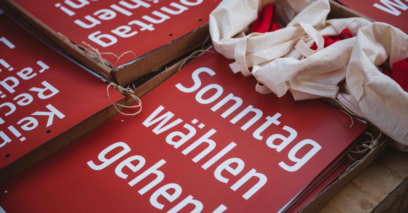 Sonntag wählen gehen! Landtagswahl in Hessen. Foto: Moritz Richter / Campact e.V. [CC BY-ND 2.0]
