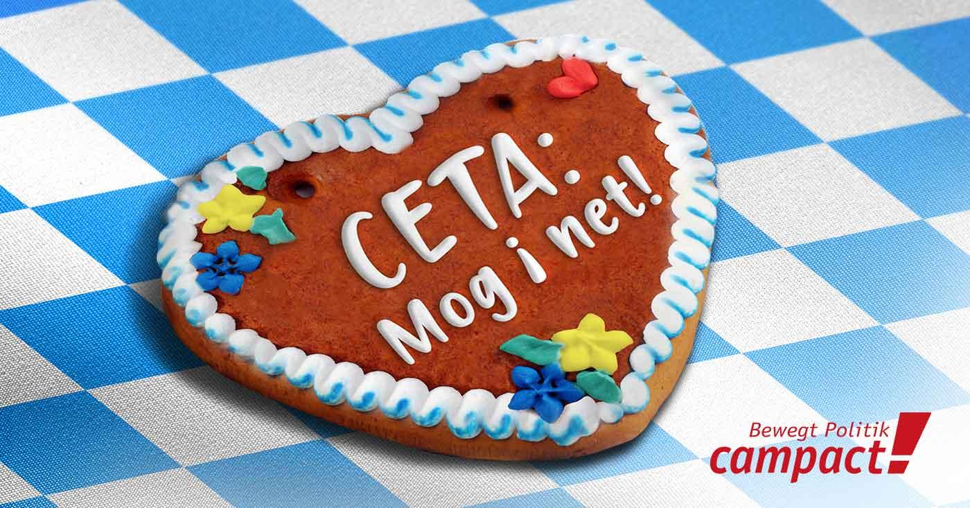 CETA: Mog i net! Stoppt CETA! Campact startet einen Appell