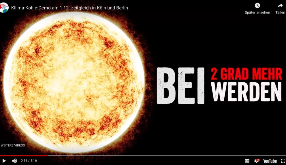 Klima-Kohle-Demo am 1.12. zeitgleich in Köln und Berlin