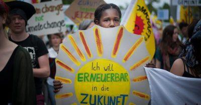 Demonstration pro Erneuerbare Energien