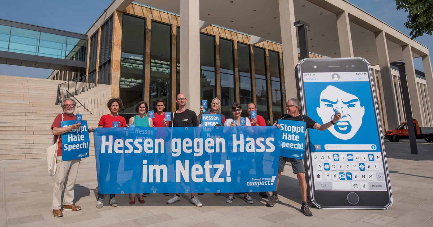 In Hessen streitet Campact gegen Hate Speech - für konsequente Strafverfolgung und besseren Opferschutz.