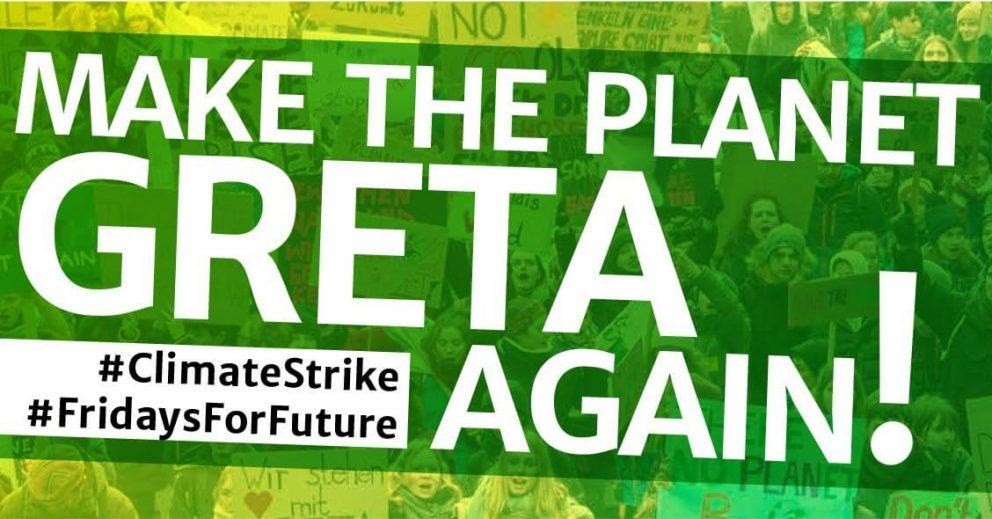 Make the Planet Greta again! #FridaysForFuture - Aufkleber
