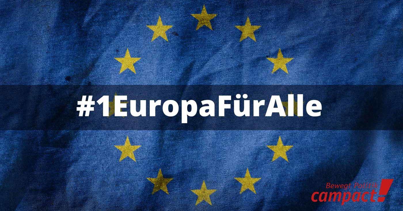 Für ein Europa für alle. Am 26. Mai ist Europawahl.