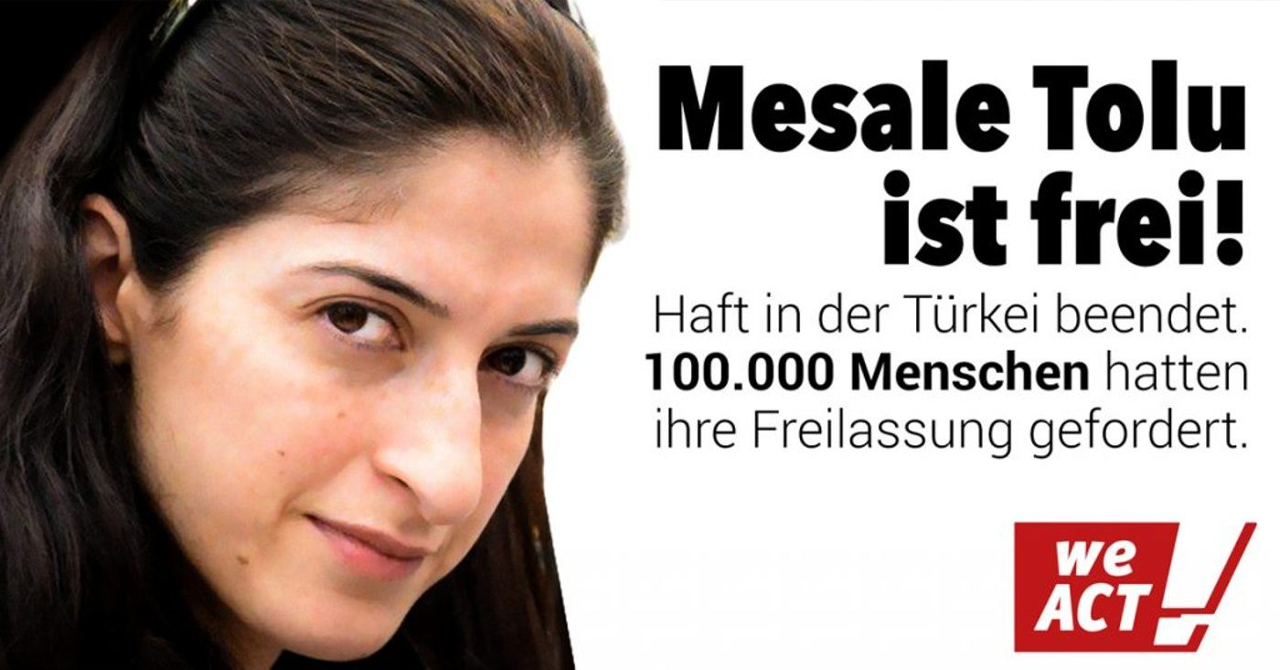 Mesale Tolu ist frei, auch dank 100.000 Menschen, die auf WeAct ihre Freilassung gefordert hatten