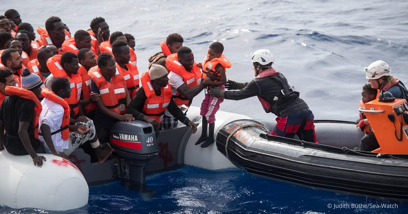 Beendet das Sterben auf See! Freiheit für Carola Rackete!