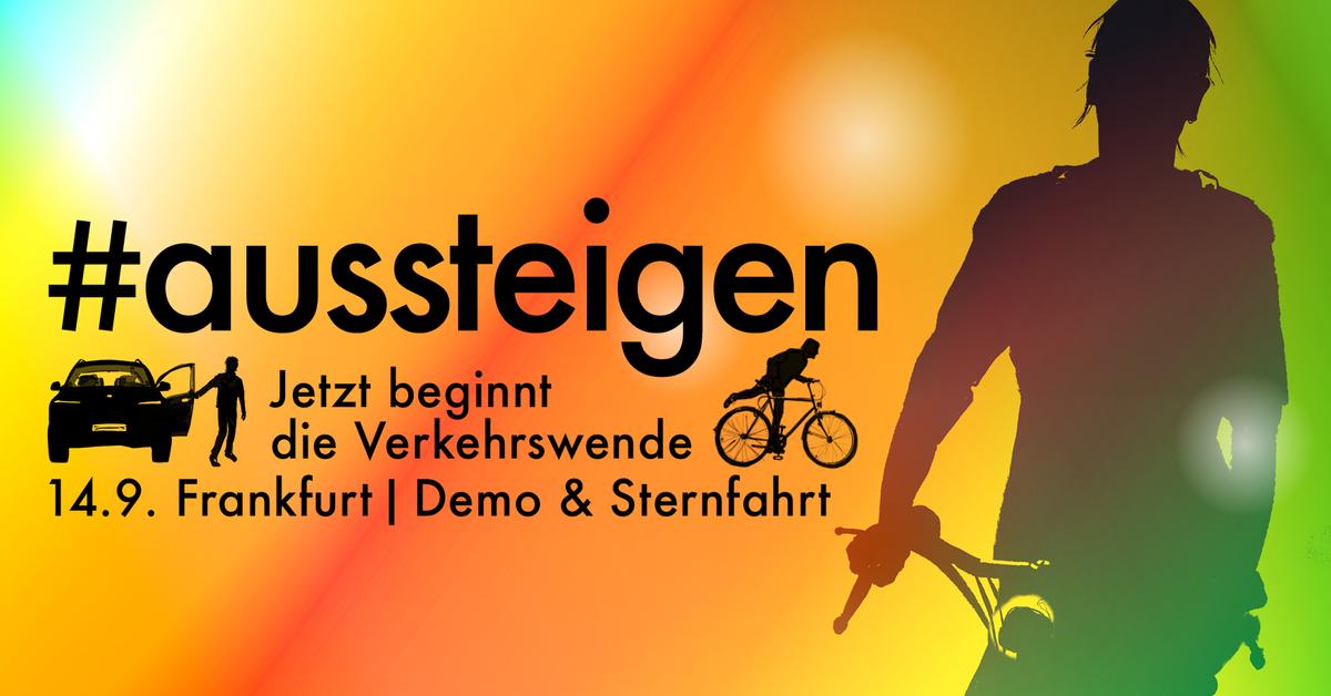 Demo zur IAA in Frankfurt: #Aussteigen - raus aus dem Verbrennungsmotor