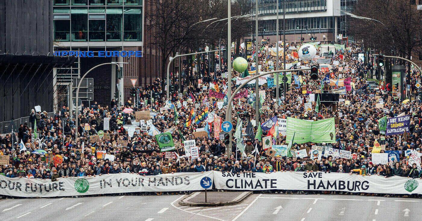 Klimademo in Hamburg