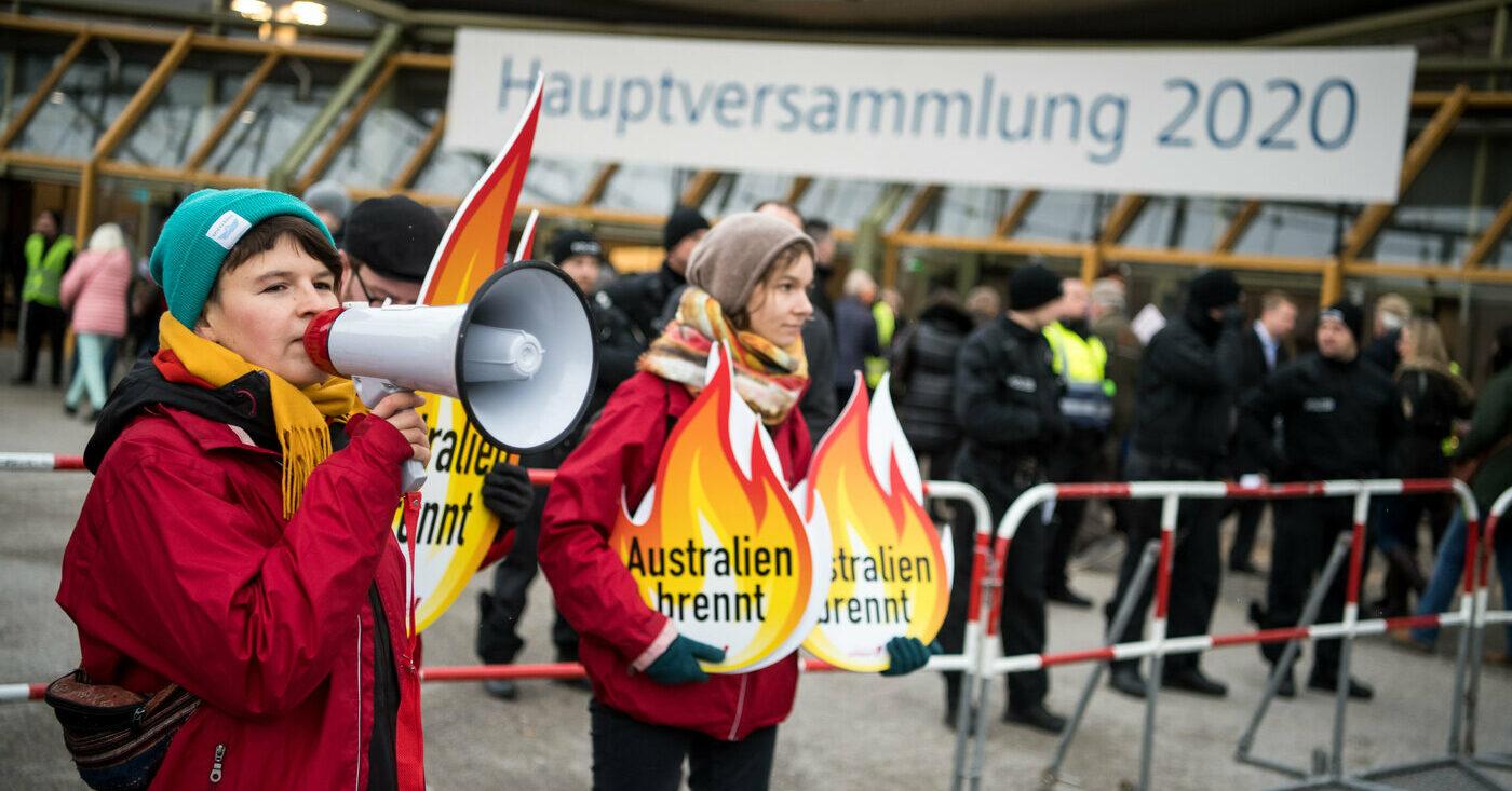 Demonstration vor Siemens-Hauptversammlung 2020: Stoppt den Kohle-Deal mit Adani!