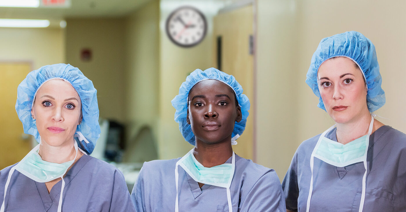 Campact fordert Corona-Bonus: Drei Pflegekräfte im Krankenhaus (Symbolbild)