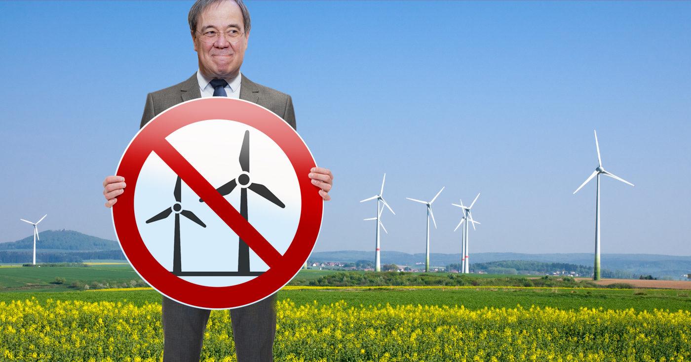 Laschet will NRW-Verbotszone für Windkraft, Campact startet einen Appell