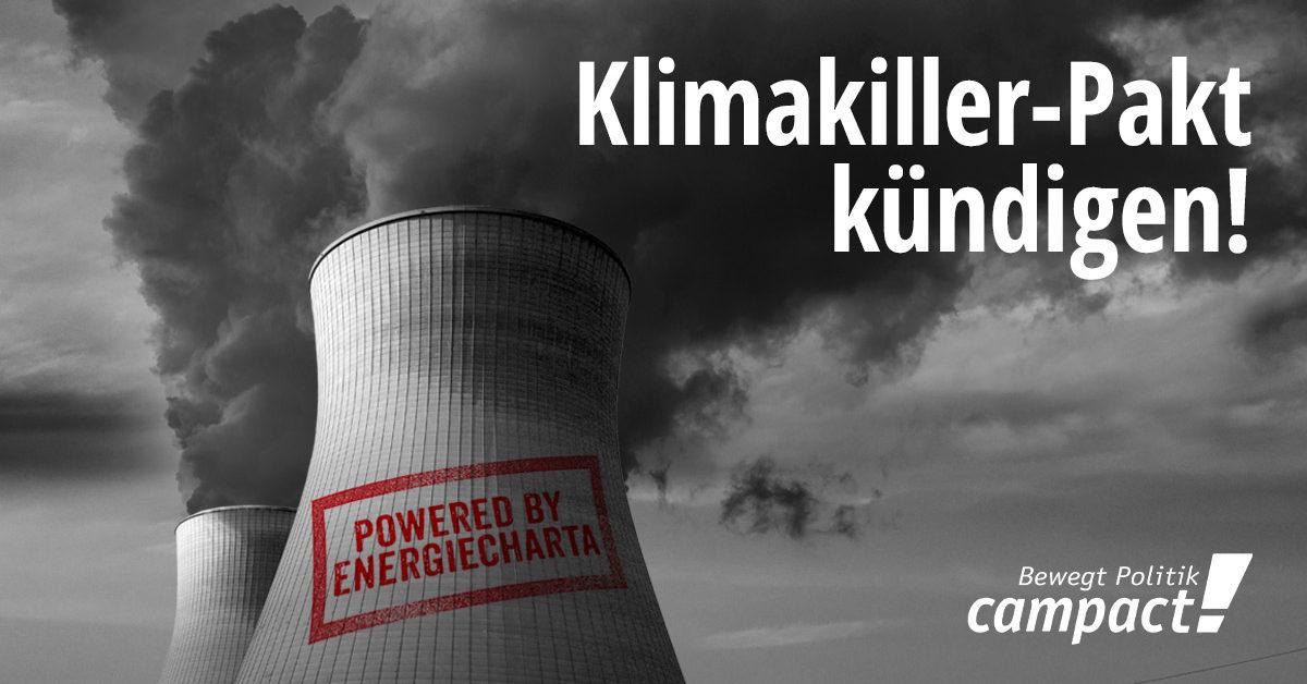 Energiecharta kündigen - Klimaschutz retten.