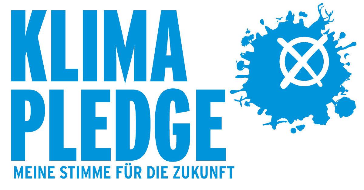 Logo Klima Pledge: Damit die Klimakrise angepackt wird, macht Campact die Bundestagswahl 2021 zur Klimawahl - mit dem Klima-Pledge, einem Versprechen fürs Klima.