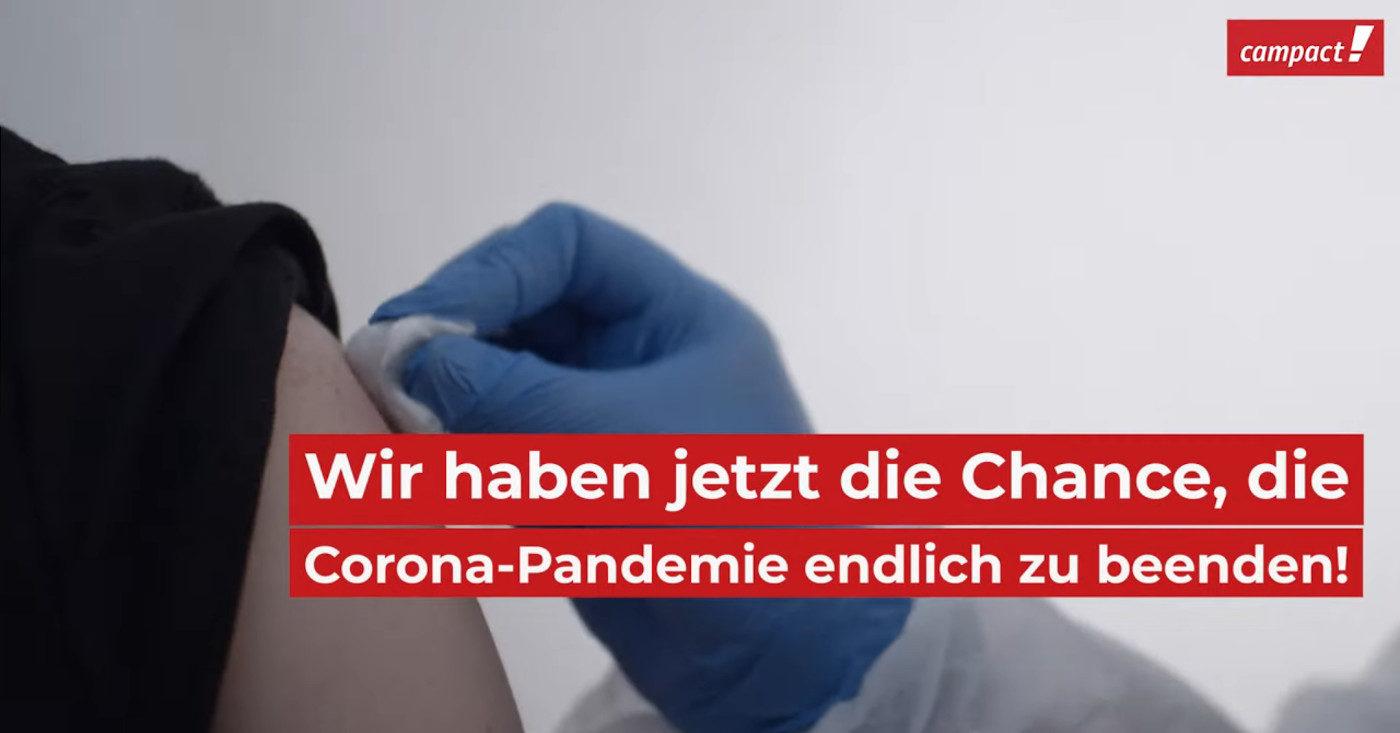Ein Screenshot aus dem Campact-Video zum Thema Impfen: Wir haben jetzt die Chance, die Corona-Pandemie zu beenden!
