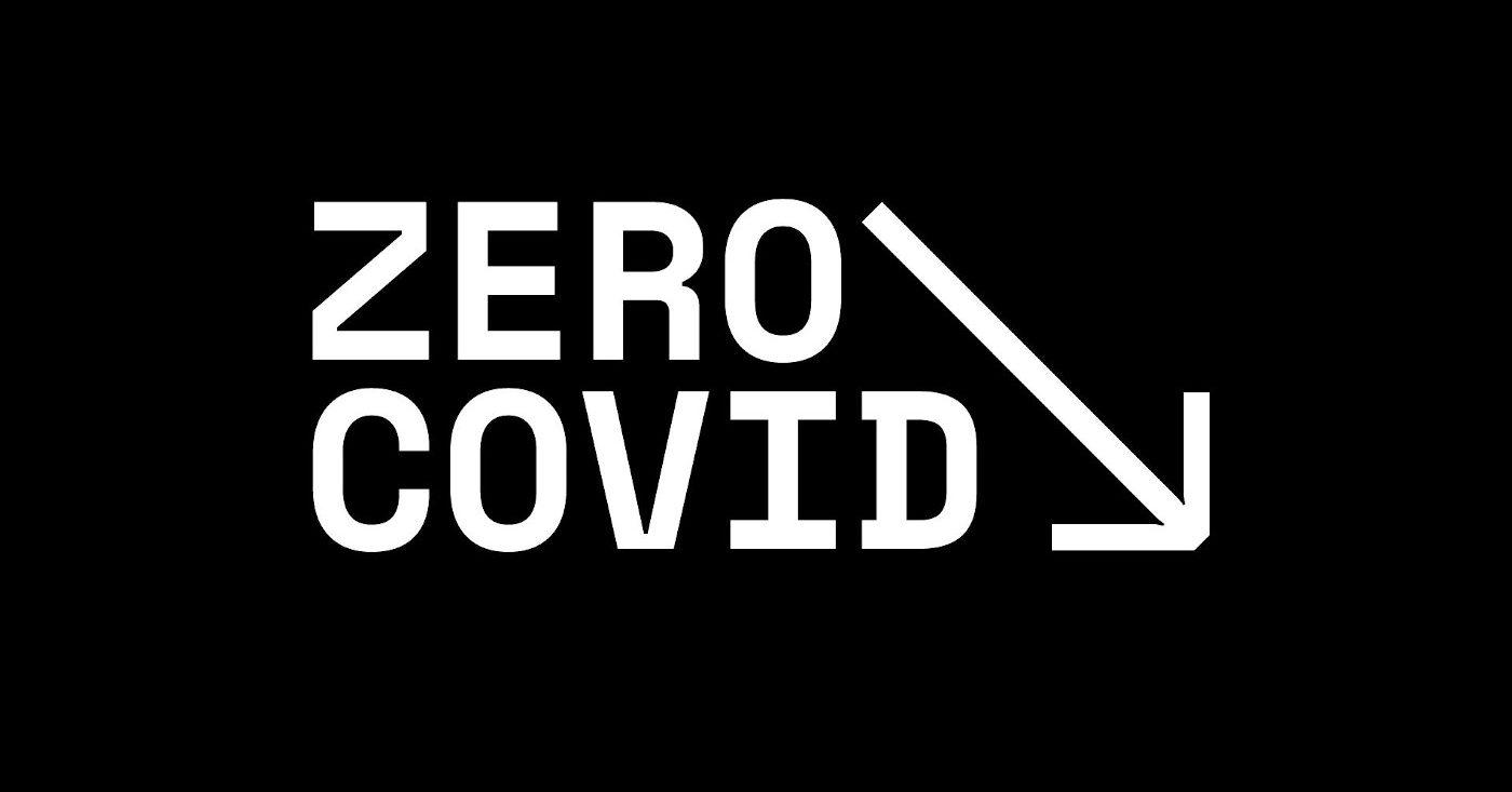 """Schwarzes Logo """"Zero Covid"""""""