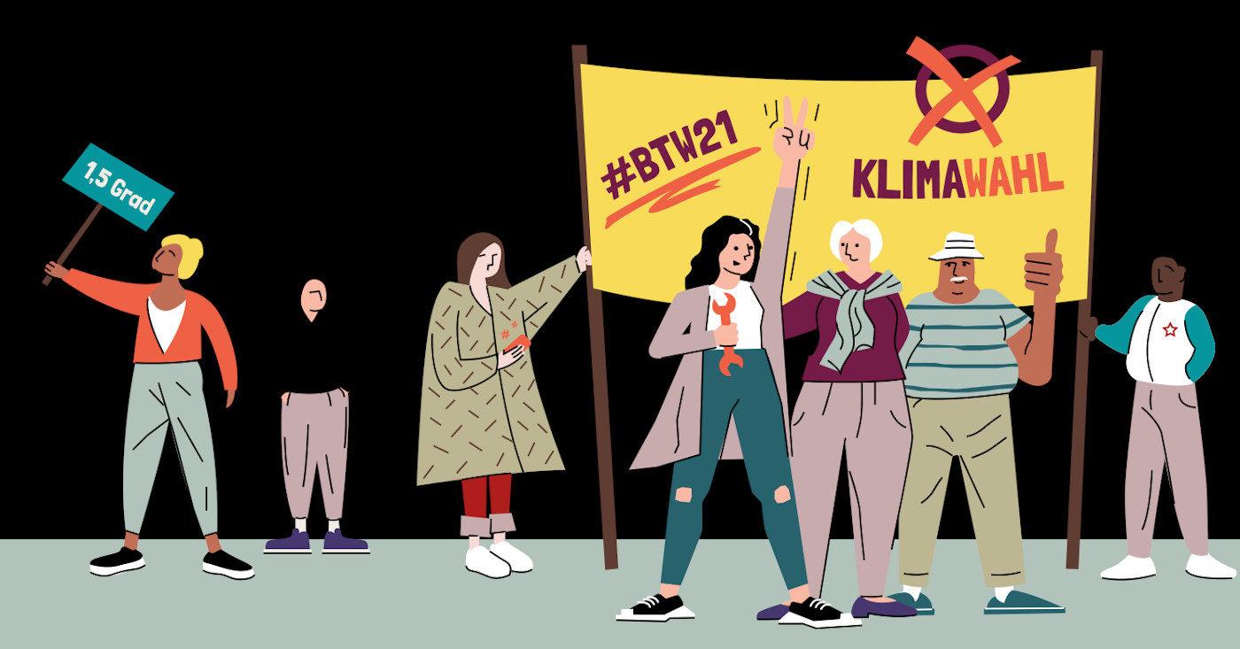 Die Bundestagswahl zur Klimawahl machen – das ist das Ziel der vier Gewinnerprojekte des Campact-Hackathons. Entdecke hier alle Projekte und ihre Themen!